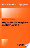Polymer Solvent Complexes and Intercalates II Book
