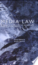 Media Law  : A Practical Guide to Managing Publication Risks