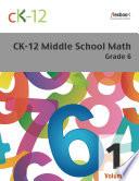 CK 12 Middle School Math Grade 6  Volume 1 Of 2