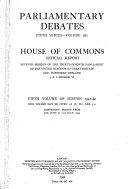 The Parliamentary Debates Hansard Official Report Book PDF