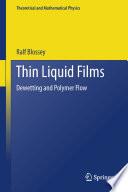 Thin Liquid Films Book