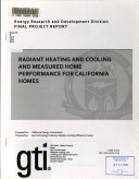 Radiant Heating And Cooling And Measured Home Performance For California Homes
