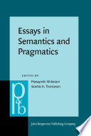 Essays In Semantics And Pragmatics