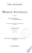 History Of Woman Suffrage 1883 1900