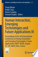Human Interaction  Emerging Technologies and Future Applications III