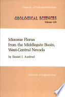 Miocene Floras From The Middlegate Basin West Central Nevada