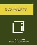 The American Mercury V1 No 1 January 1924