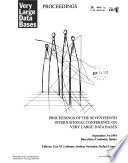 Proceedings of the International Conference on Very Large Data Bases