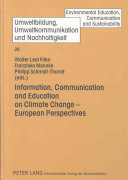 Information  Communication and Education on Climate Change