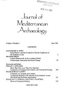 Journal of Mediterranean Archaeology