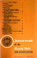 Journal of the Beverly Hills Bar Association
