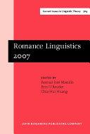 Romance Linguistics 2007