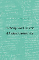 Pdf The Scriptural Universe of Ancient Christianity Telecharger