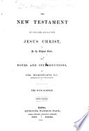 The New Testament     in the original Greek  with notes and introductions  by Chr  Wordsworth     Fifth edition