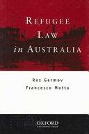 Refugee Law in Australia