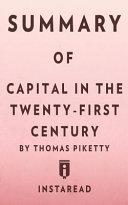 Summary of Capital in the Twenty First Century Book PDF