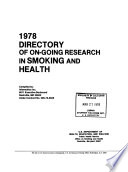 Directory of On going Research in Smoking and Health Book