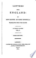 Letters From England By Don Manual Alvarez Espriella