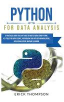Python For Data Analysis Book PDF