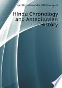 Hindu Chronology and Antediluvian History