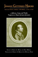 Johann Gottfried Herder: Selected Early Works, 1764-1767