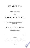 An address on the amelioration of the social state