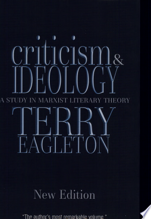 Criticism+and+IdeologyA new edition of a classic treatise on literary theory seeks to develop a sophisticated relationship between Marxism and literary criticism, evaluating the key works of such figures as Lenin, Trostsky, and Sartre as well as canonical writers including Charles Dickens and T. S. Eliot to demonstrate how ideology can play a productive and subversive role in literature. Reprint.