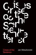 Crises of the Sentence Pdf/ePub eBook