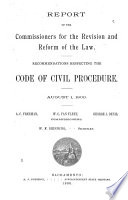 Report of the Commissioners for the Revision and Reform of the Law