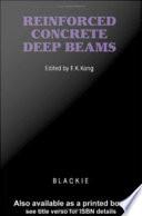 Reinforced Concrete Deep Beams Book