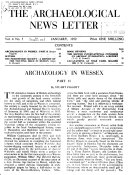 Archaeological News Letter