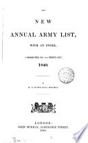 The New Annual Army List By H G Hart Afterw Hart S Annual Army List