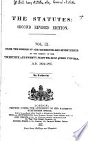 The Statutes  Second Revised Edition Book