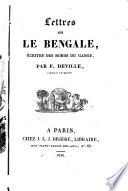 Lettres sur le Bengale, écrites des bords du Gange