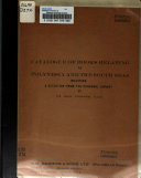 Catalogue of Books Relating to Polynesia and the South Seas
