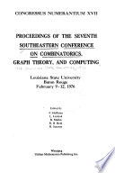 Proceedings of the ... Southeastern Conference on Combinatorics, Graph Theory, and Computing