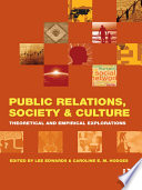 Public Relations  Society   Culture Book