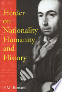 Herder on Nationality, Humanity, and History