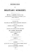 Memoirs of military surgery