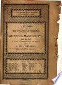 Auction catalogue  books of Guglielmo Libri  28 March to 5 April 1859