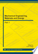Mechanical Engineering, Materials and Energy