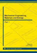 Mechanical Engineering  Materials and Energy