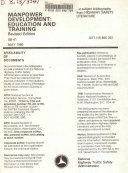 Manpower Development  Education  and Training