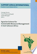 Agrarian Science for Sustainable Resource Management in Sub Saharan Africa Book