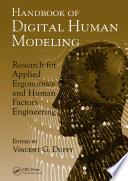 Handbook of Digital Human Modeling Book