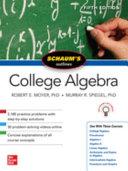 Schaum s Outline of College Algebra  Fifth Edition