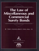 The Law of Miscellaneous and Commercial Surety Bonds ebook