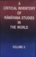 A Critical Inventory of Rāmāyaṇa Studies in the World: Foreign languages