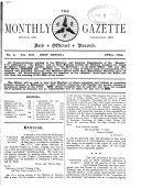Pdf The Monthly C.T.C. Gazette' and Official Record