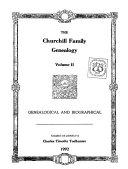 The Churchill family genealogy